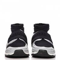 Женские кроссовки Сhanel stretch sneakers Silver/Black