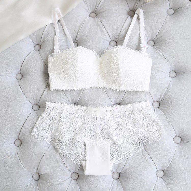 Комплект нижнего белья 75B (34B) white, набор женского белья