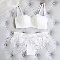 Комплект нижнего белья 75B (34B) white, набор женского белья, фото 1