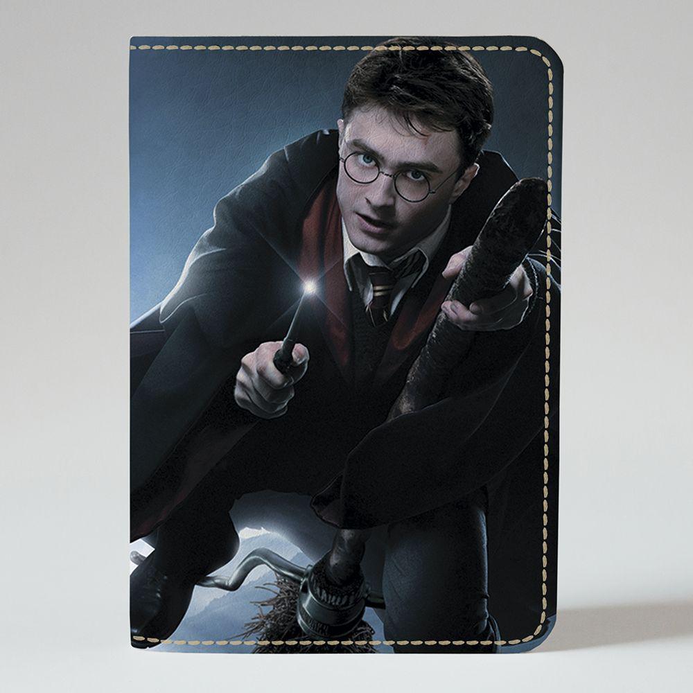 Обложка на паспорт v.1.0. Fisher Gifts 645 Гарри Поттер на метле (эко-кожа)