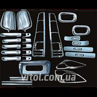 Набор декоративных накладок для украшения автомобиля Honda CR-V 2002 (WS-CR-V), в наборе 22 единицы, хром-пакет, накладки на кузов