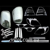 Набор декоративных накладок для украшения автомобиля Toyota (CHR006 / WS FS-COR09), для Toyota Corolla 2001-2003, в наборе 19 единиц, хром-пакет