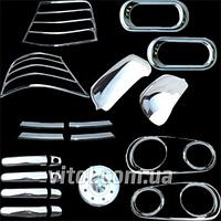Набор декоративных накладок для украшения автомобиля Volkswagen GOLF4 (FS-GOLF4), в наборе 22 единицы, хром-пакет, хром - пакет на фолксваген