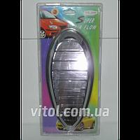 Накладка пластиковая декоративная для автомобиля Super Air Flow Fish (FCAS203802 YCL802), черная, накладка на решетку обдува