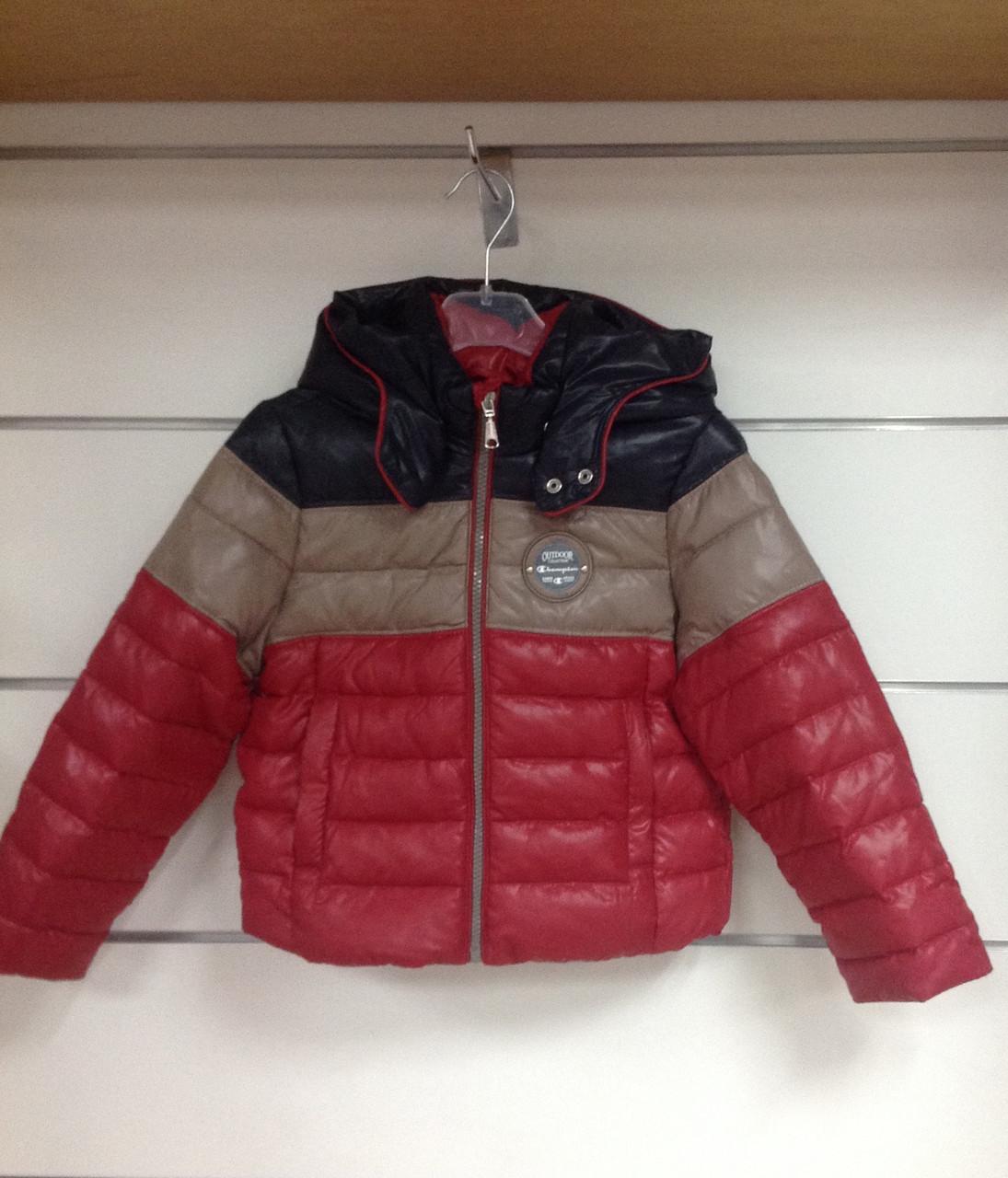 Куртка пуховая для мальчика трехцветнкя Сhampion р.104