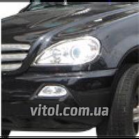 Накладка декоративная хромированная для украшения автомобиля Mercedes (SP 42550- 01C), для Mercedes BENZ ML 350 W163 98~, на передние фары