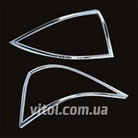Накладка декоративная хромированная для украшения автомобиля Mercedes, для Mercedes BENZ W203, на задние фары, хром накладка, накладка на фары