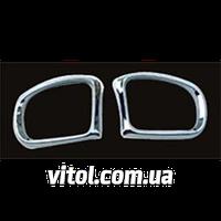 Накладка декоративная хромированная для украшения автомобиля Mercedes (WS MRC-BZ50C), для Mercedes BENZ W203 (01~on), рамка зеркала