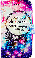 Чехол-книжка TOTO Book Universal cover Picture magic with window 4.5'-5.0' Dreamcatcher