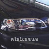 Накладка декоративная хромированная для украшения автомобиля (SP 40301-01C), для BMW 3-E46, на передние фары, накладка для бмв
