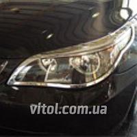Накладка декоративная хромированная для украшения автомобиля (SP 40312-01C), для BMW  5-E60 2004, на передние фары, накладка для бмв