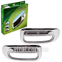 Накладка декоративная хромированная для украшения автомобиля (LEMANS) Daewoo LEMANS (Nexia), на дверные ручки, накладка кузовная, хром-пакет