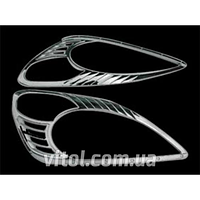 Накладка декоративная хромированная для украшения автомобиля (HLP-H08) Honda CR-V 2002, на передние фары, накладка кузовная, хром-пакет