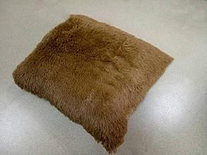 Наволочка з довгим ворсом темна карамель (50х50)