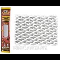 Решетка декоративная для автомобиля Carmos (CarmoS №5 silver), размер 100х20 см, серебристая, №5, решетка автомобильная, декоративная решетка для авто