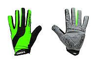 Рукавички ONRIDE Long довгі пальці зелений/чорний XL