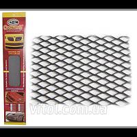 Решетка декоративная для автомобиля Carmos (№1-2), БЕЗ УПАКОВКИ, размер 100х40 см, черный, решетка автомобильная, декоративная решетка для авто