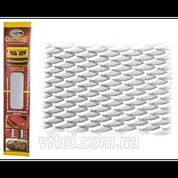 Решетка декоративная для автомобиля Carmos (CarmoS №4 silver-2), БЕЗ УПАКОВКИ, размер 100х30 см, серебристый, решетка автомобильная