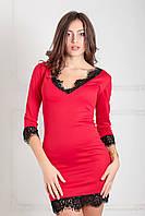 Витончене червоне коктельне плаття Style (XS-XXL)