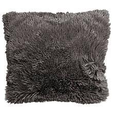 Наволочка з довгим ворсом темно-сіра (50х50)