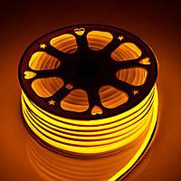 Светодиодный неон гибкий Желтый 220В