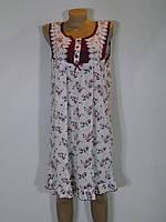 Женская ночная рубашка в цветочный принт Батал