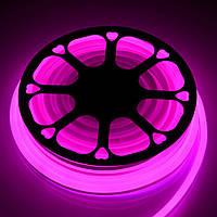 Светодиодный неон гибкий Розовый 220В Премиум