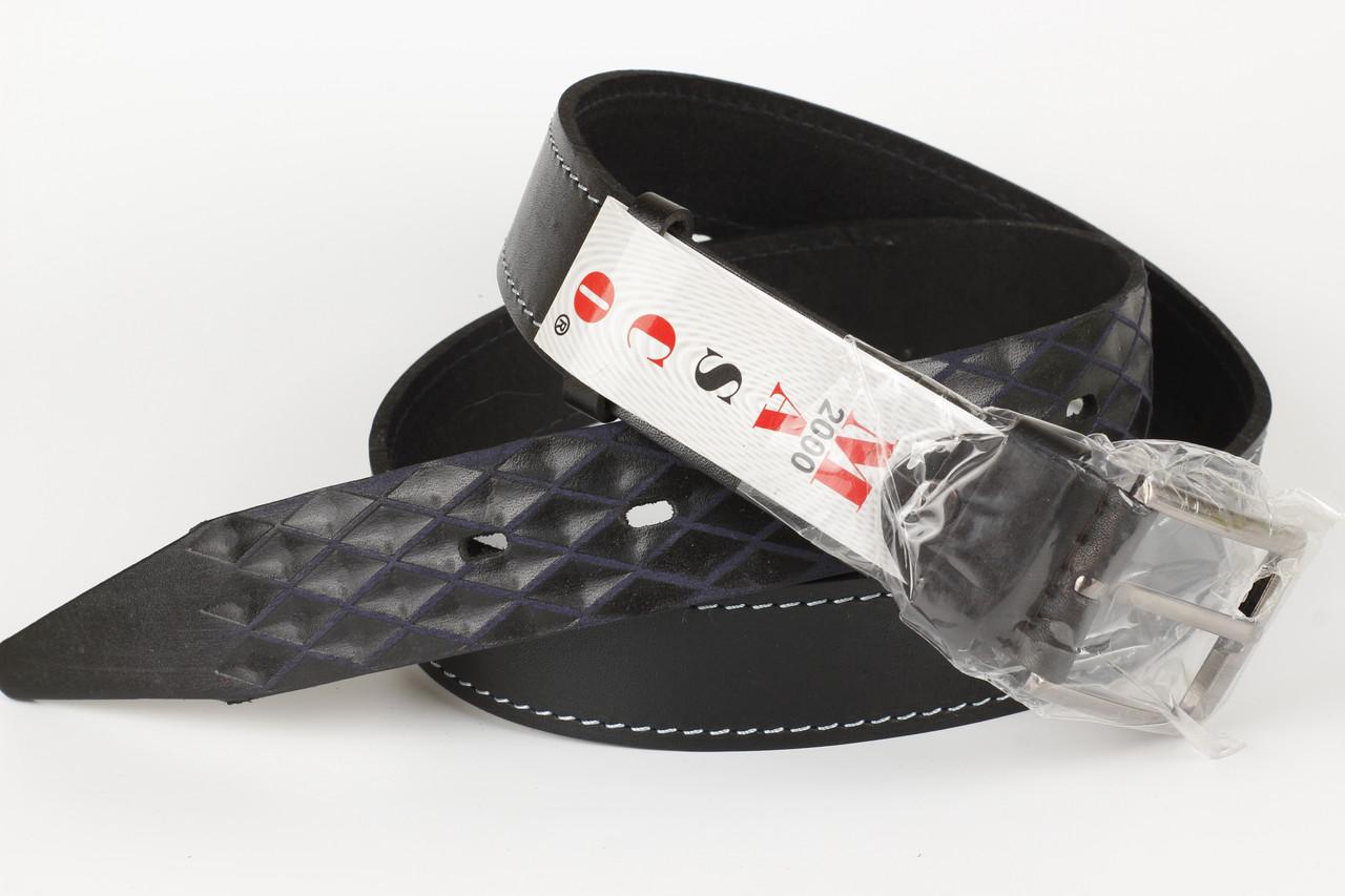 Ремень кожаный джинсовый Masco 35 мм