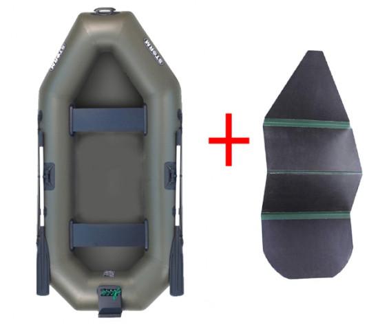 Aqua Storm st249Dtck - лодка Шторм 249 с навесным транцем и жёстким дном