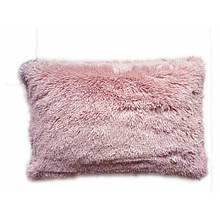 Наволочка з довгим ворсом рожева пудра (50х70)