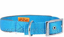Ошейник DOG EXTREME COLLAR нейлон с регулировкой шир.10 мм, длина 20-30 см, голубой