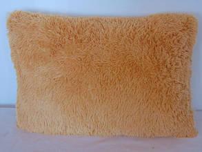 Наволочка з довгим ворсом персикова (50х70)