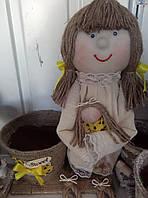 """Дизайнерский сувенир vintage """"лялька с вазоном"""""""