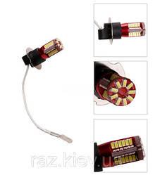 Светодиодная лампа H3 LED (цена за 1шт) противотуманка Canbus 57 SMD 3014/3Вт 12В , автолампа для птф