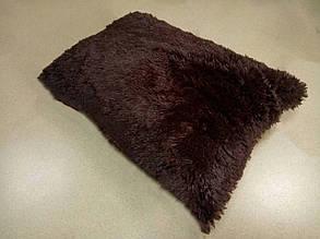 Наволочка з довгим ворсом шоколад (50х70)