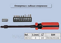 Отвертка с гибким стержнем, набор 12 шт. ,  Top Tools 39D122