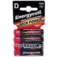 Батарейка Energycell 1,5V, R03C S4, солевая, AAA, 4шт (6932010391431), батарейка пальчиковая, аккумулятор, элемент питания, Мини пальчиковые батарейки