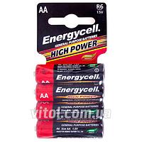 Батарейка Energycell 1,5V, R6C S4, солевая, AAA, 4шт (6932010391462), батарейка пальчиковая, аккумулятор, элемент питания, Мини пальчиковые батарейки