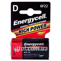 Батарейка Energycell 9V, 6F22M-S1, солевая, крона (4820033111100), батарейка пальчиковая, аккумулятор, элемент питания,Мини пальчиковые батарейки