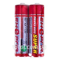 Батарейка Энергия, 1,5V, R6 S2, солевая, AA (4820033120607), батарейка пальчиковая, Мини пальчиковые батарейки, элемент питания