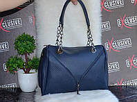 Женская синяя сумочка с молнией., фото 1