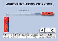 Отвертка с длинным стержнем с насадками и сменными головками набор 8 шт.,  Top Tools 39D182