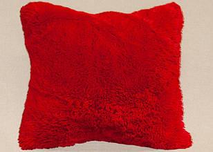 Наволочка з довгим ворсом червона (50х70)