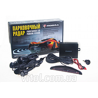 Парктроник Cobra LP-10140, LED, 4 датчика D=18мм, коннектор, grey, парктроник для автомобиля, автомобильный датчик давления, автомобильный парктроник