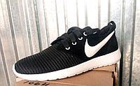Женские кроссовки черные сетка Nike 35-42 р-р, фото 1