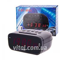 Часы электронные 803С-1 красный, Электронные часы, Часы для авто, Часы автомобильные, Автомобильный термометр