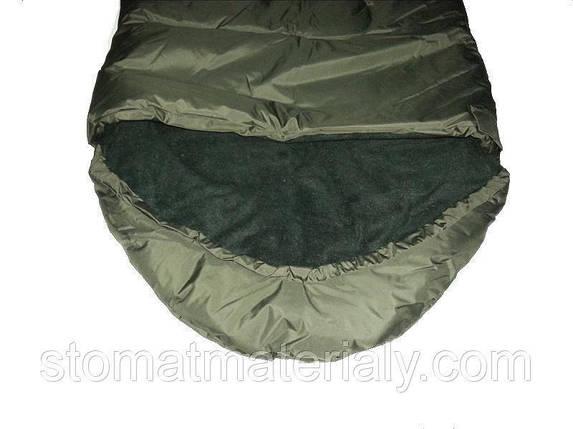 Армейский зимний спальный мешок, водонепроницаемый, материал флис, фото 2