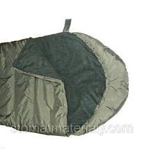 Армейский зимний спальный мешок, водонепроницаемый, материал флис, фото 3