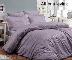 "Постельное белье First Choice(евро-размер) сатин-жаккард""Athena Leylak"""