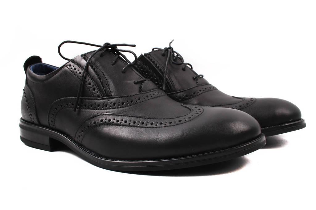 Туфли мужские Vadrus натуральная кожа, цвет черный (каблук, весна\осень)